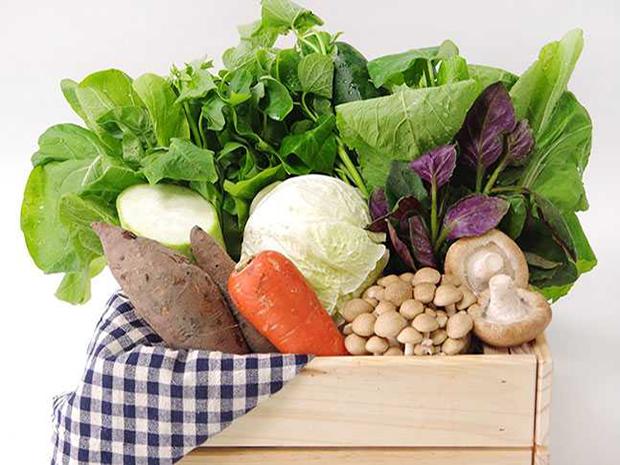 悠活農村-有機蔬菜箱599元(5葉菜+3根莖瓜豆+1菇類)