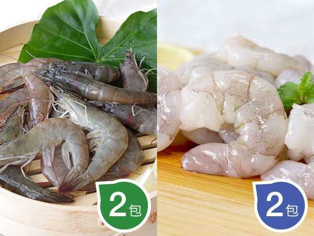 大白蝦+蝦仁組