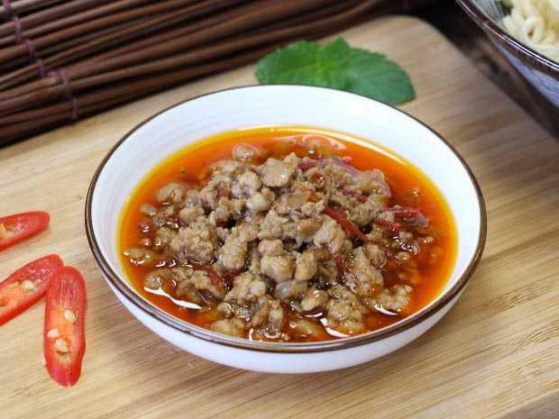 椒麻肉拌醬